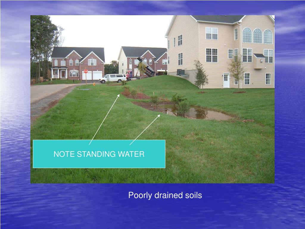 NOTE STANDING WATER