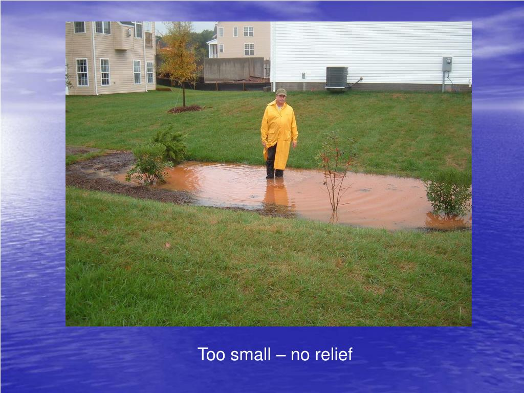 Too small – no relief