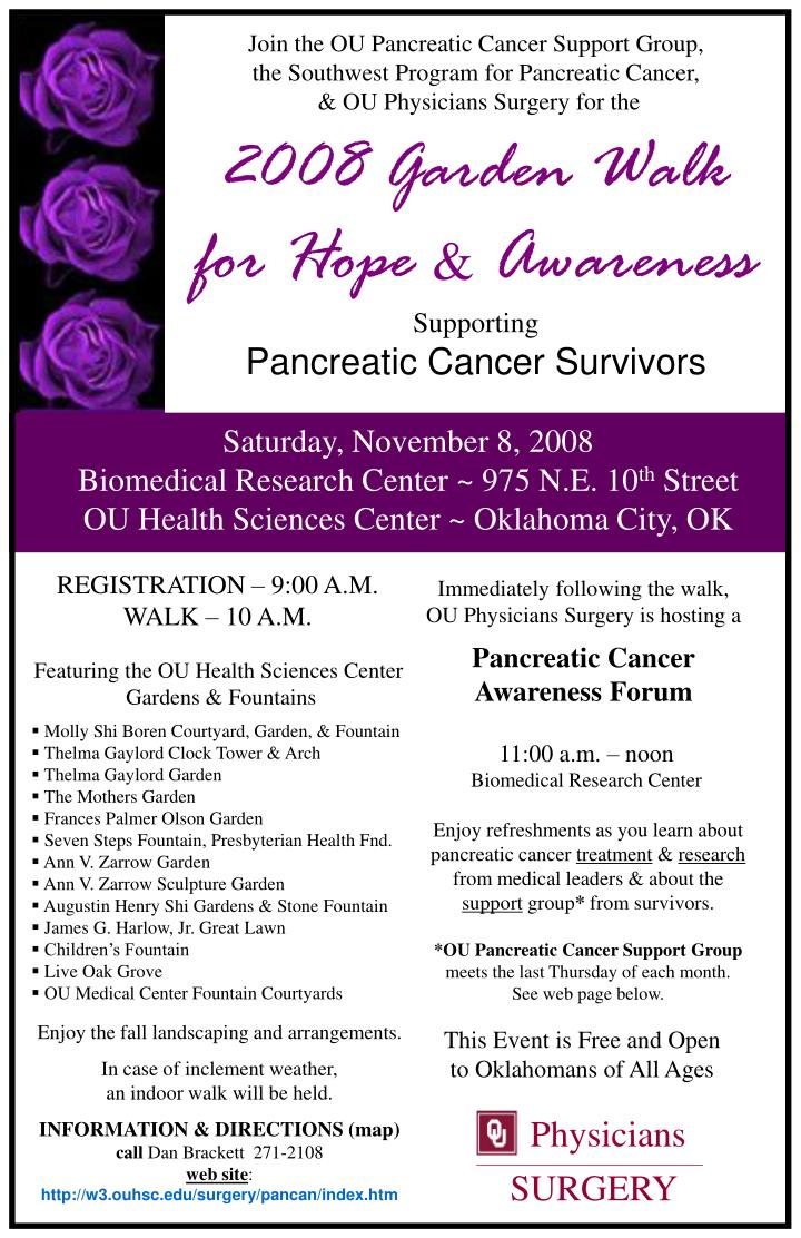 Join the OU Pancreatic Cancer Support Group,