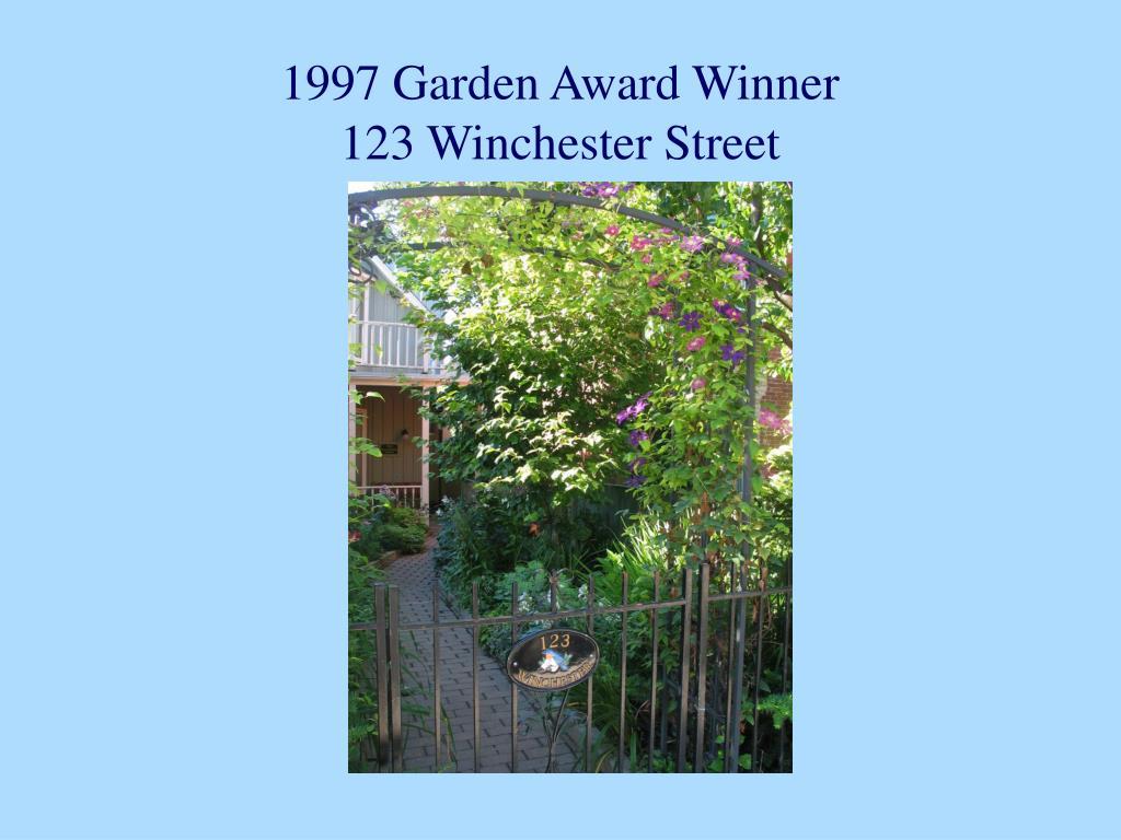 1997 Garden Award Winner
