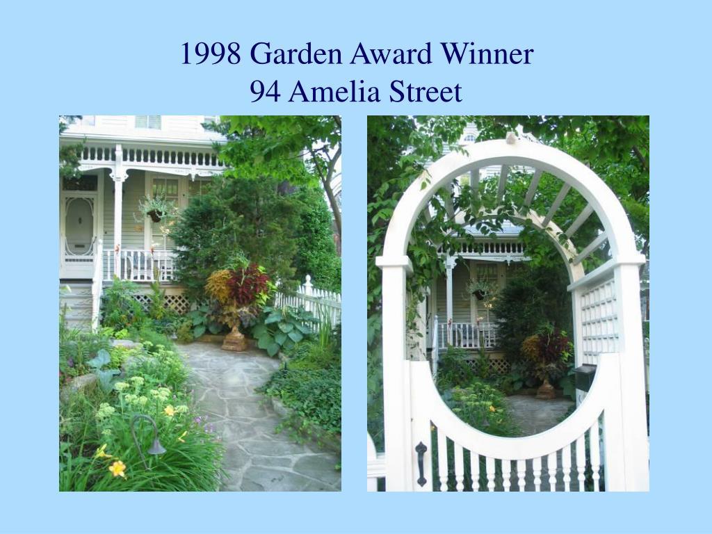 1998 Garden Award Winner