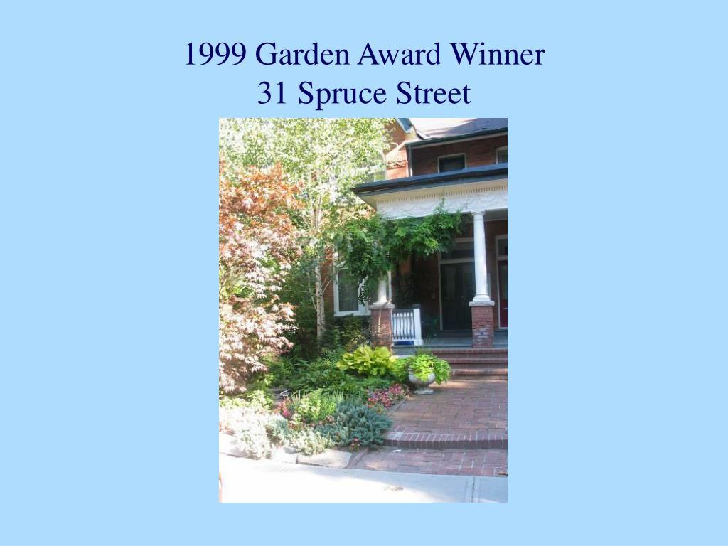 1999 Garden Award Winner