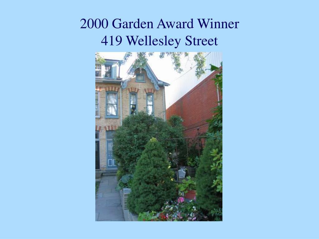 2000 Garden Award Winner