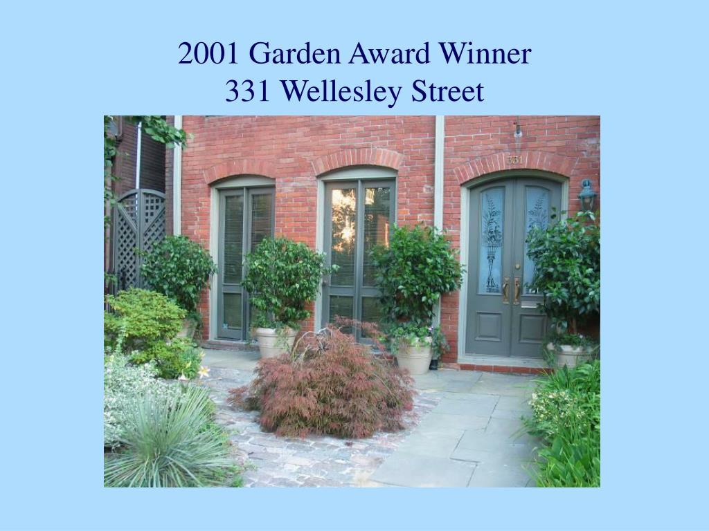 2001 Garden Award Winner