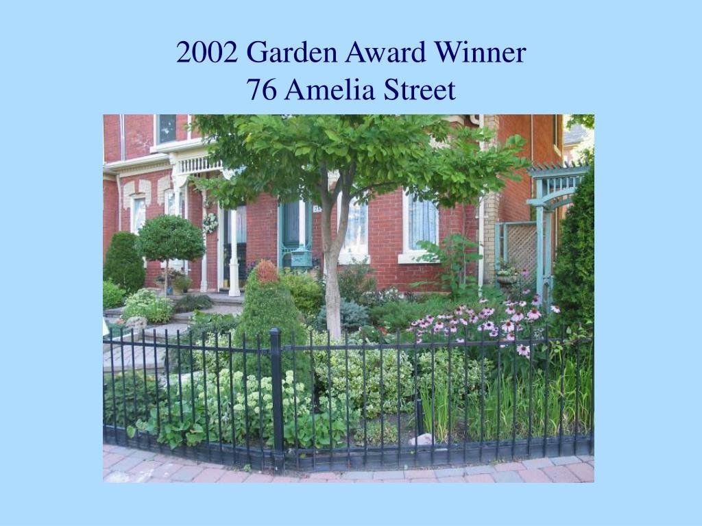 2002 Garden Award Winner