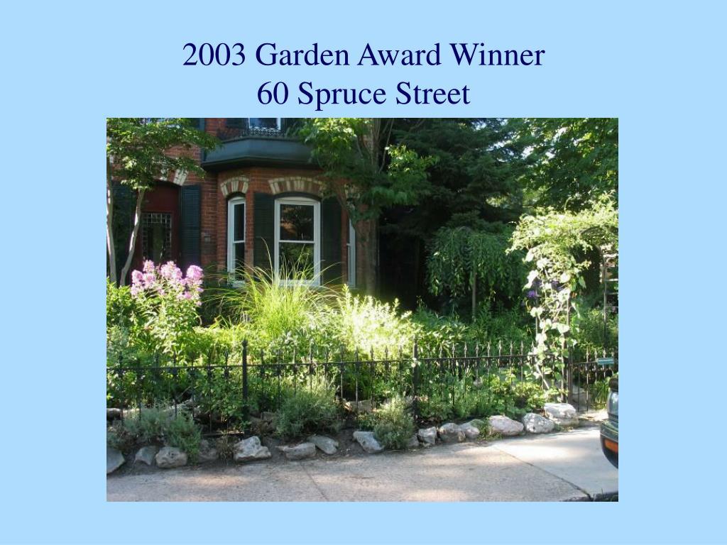 2003 Garden Award Winner