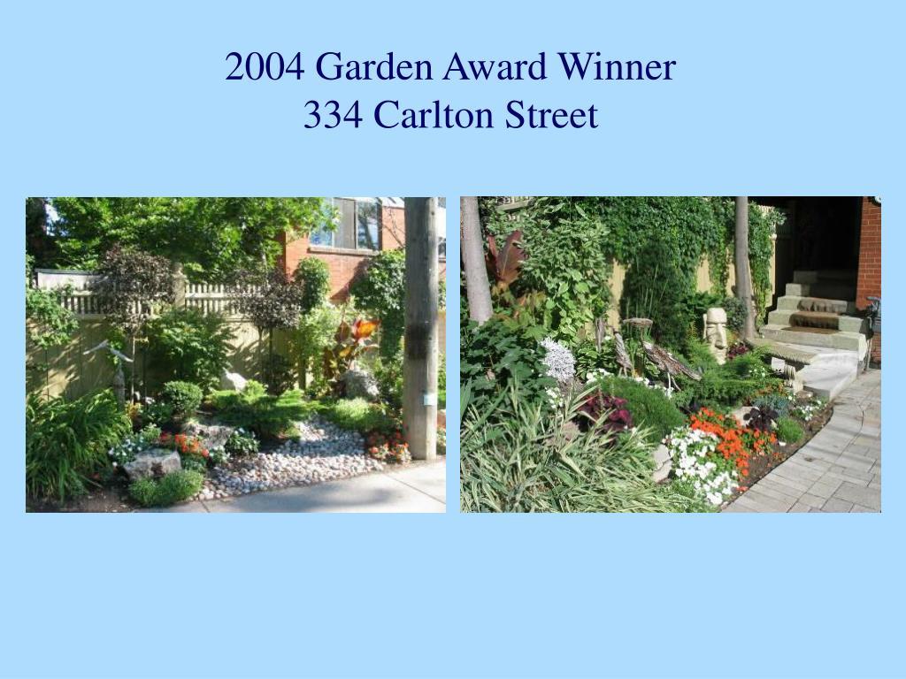 2004 Garden Award Winner