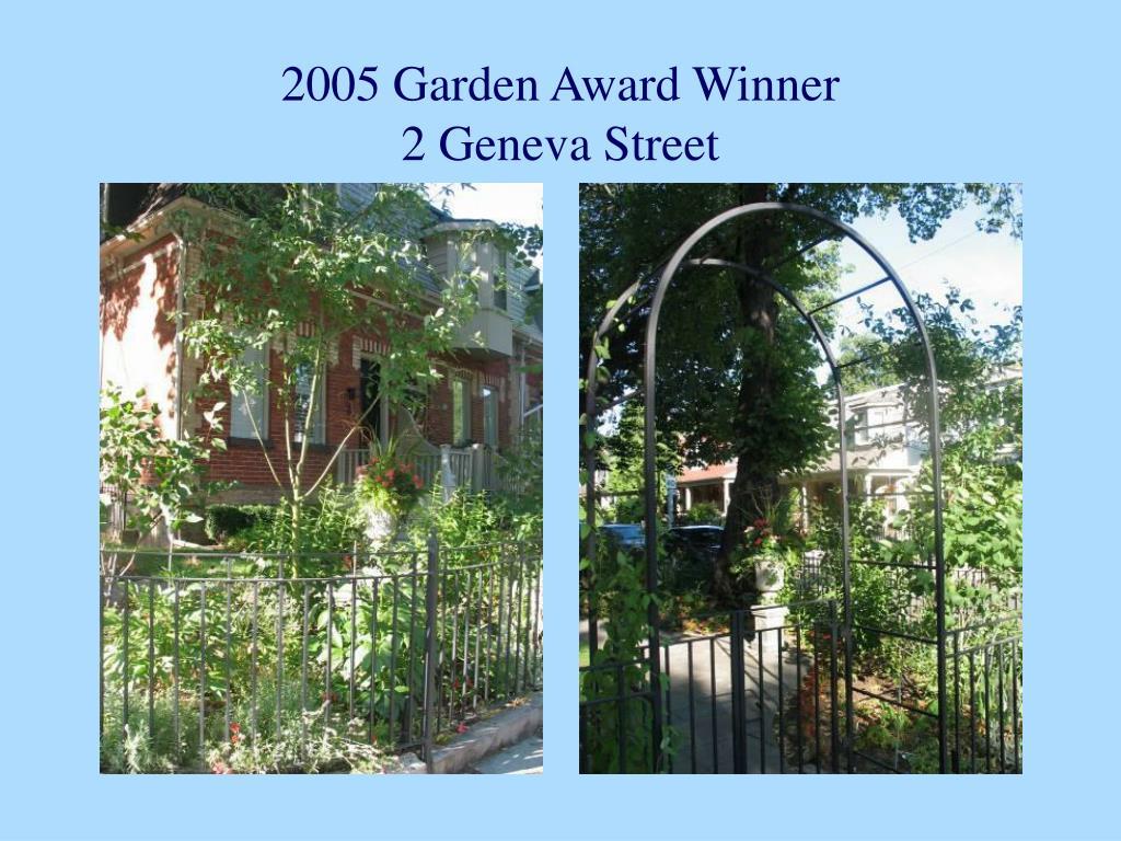 2005 Garden Award Winner