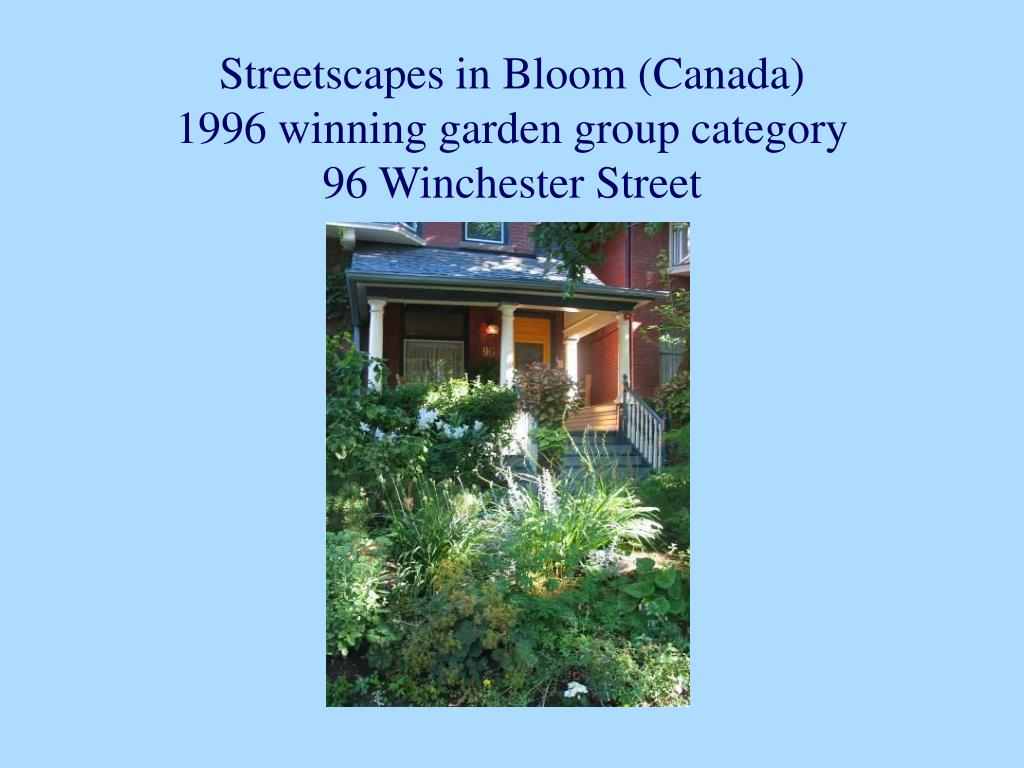Streetscapes in Bloom (Canada)