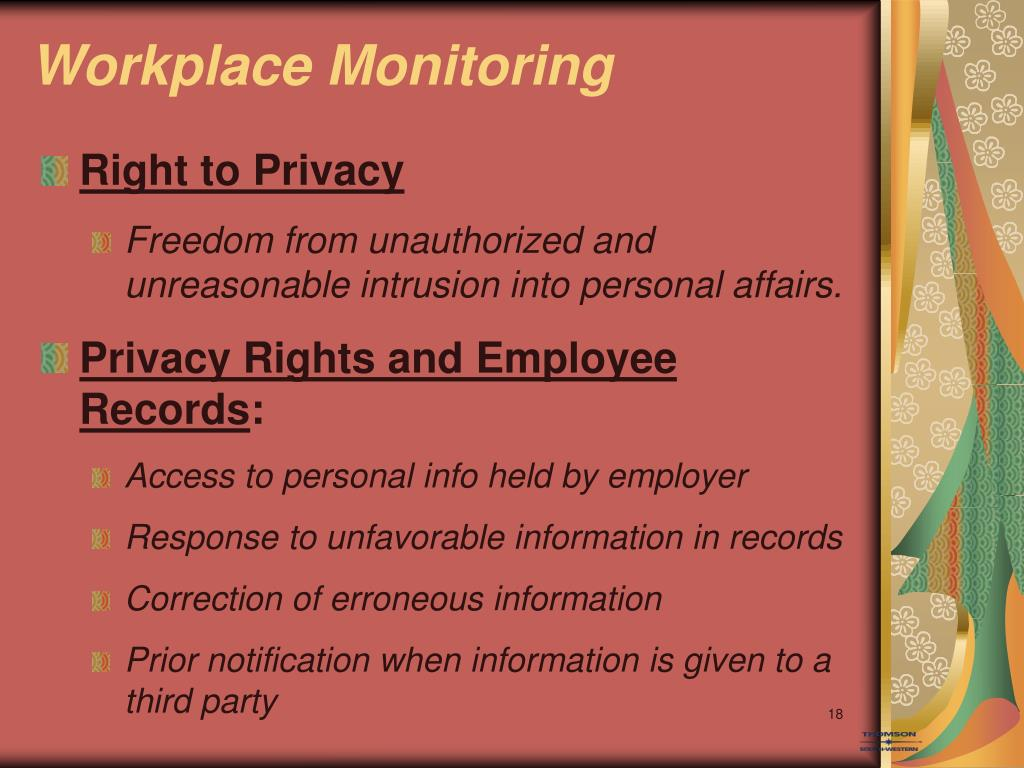 Your Employees' Right to Privacy