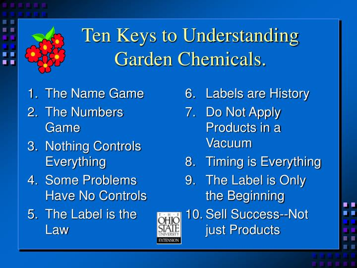 Ten keys to understanding garden chemicals l.jpg