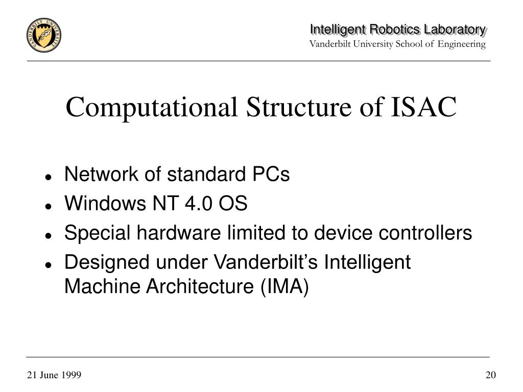 Computational Structure of ISAC