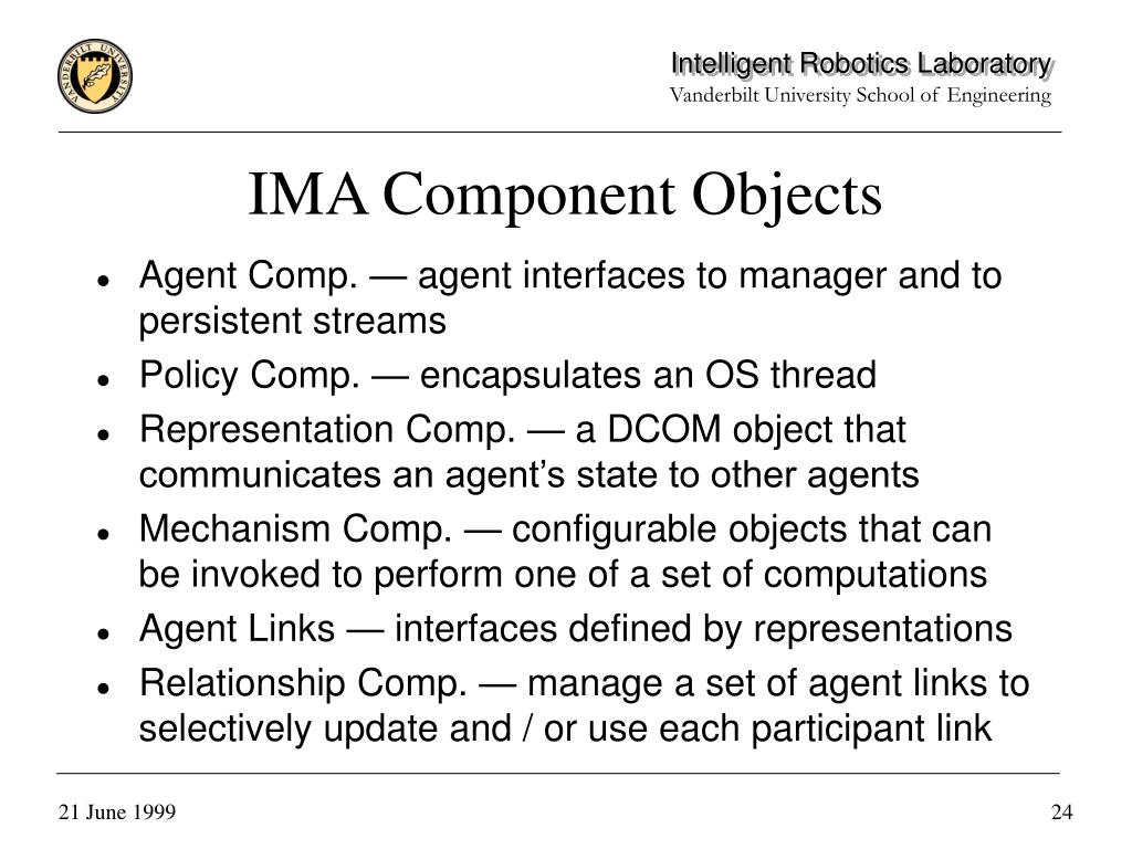 IMA Component Objects