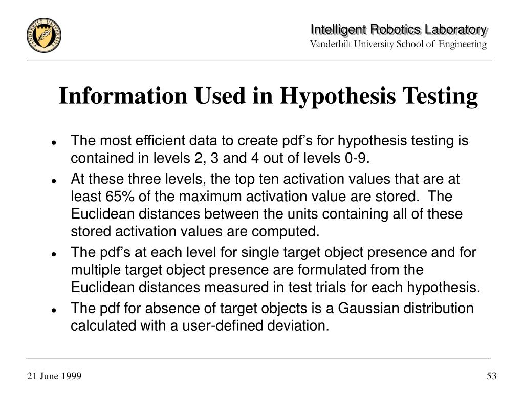 Information Used in Hypothesis Testing