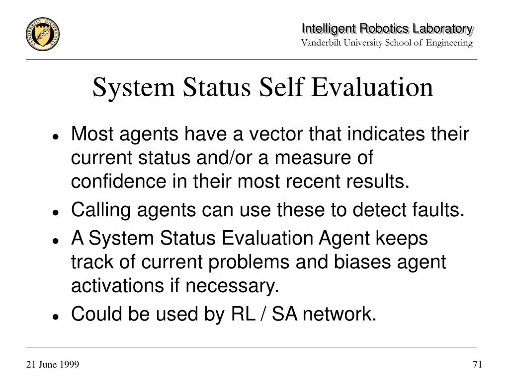 System Status Self Evaluation