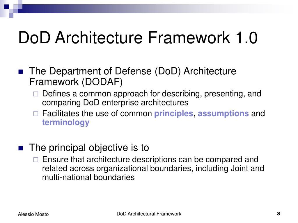 DoD Architecture Framework 1.0