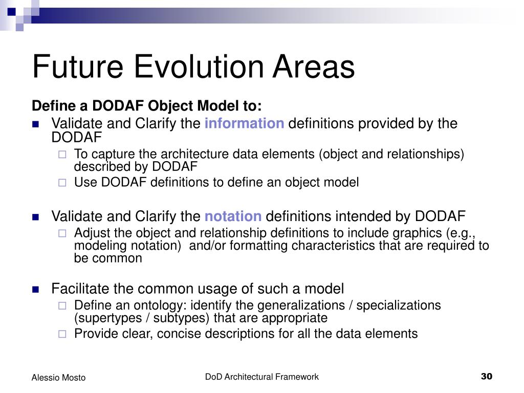 Future Evolution Areas