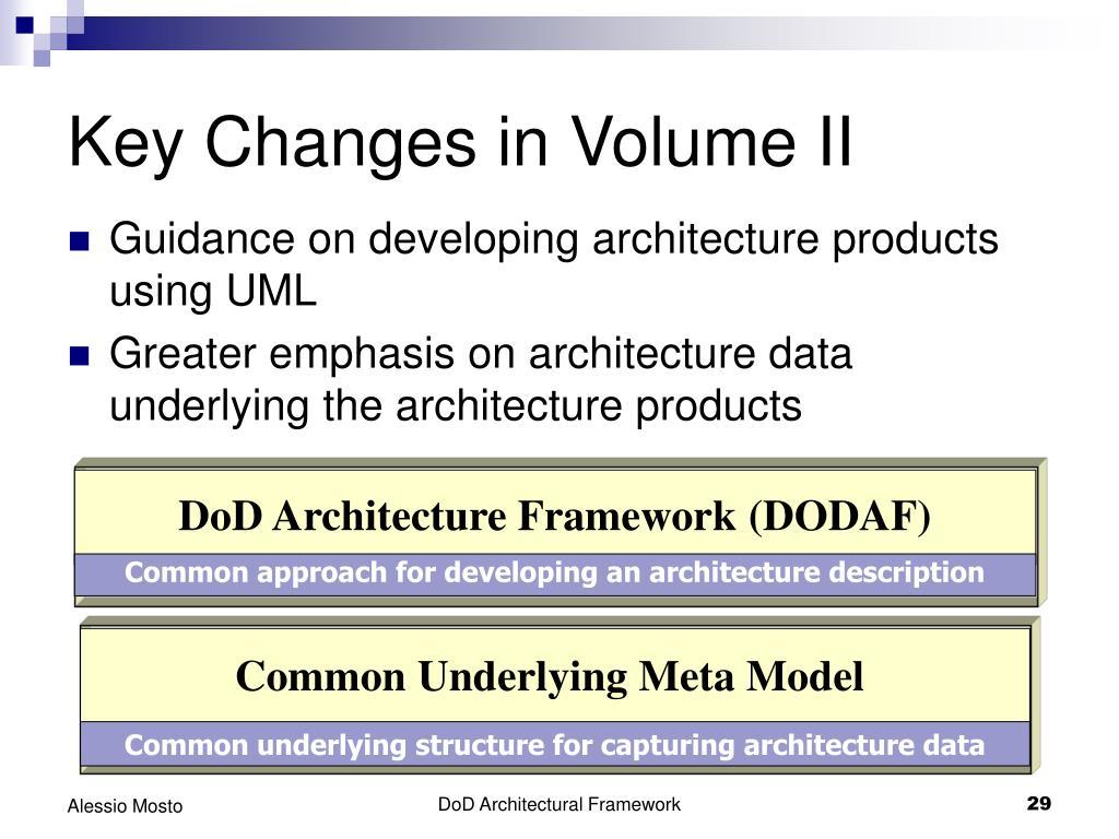 Key Changes in Volume II