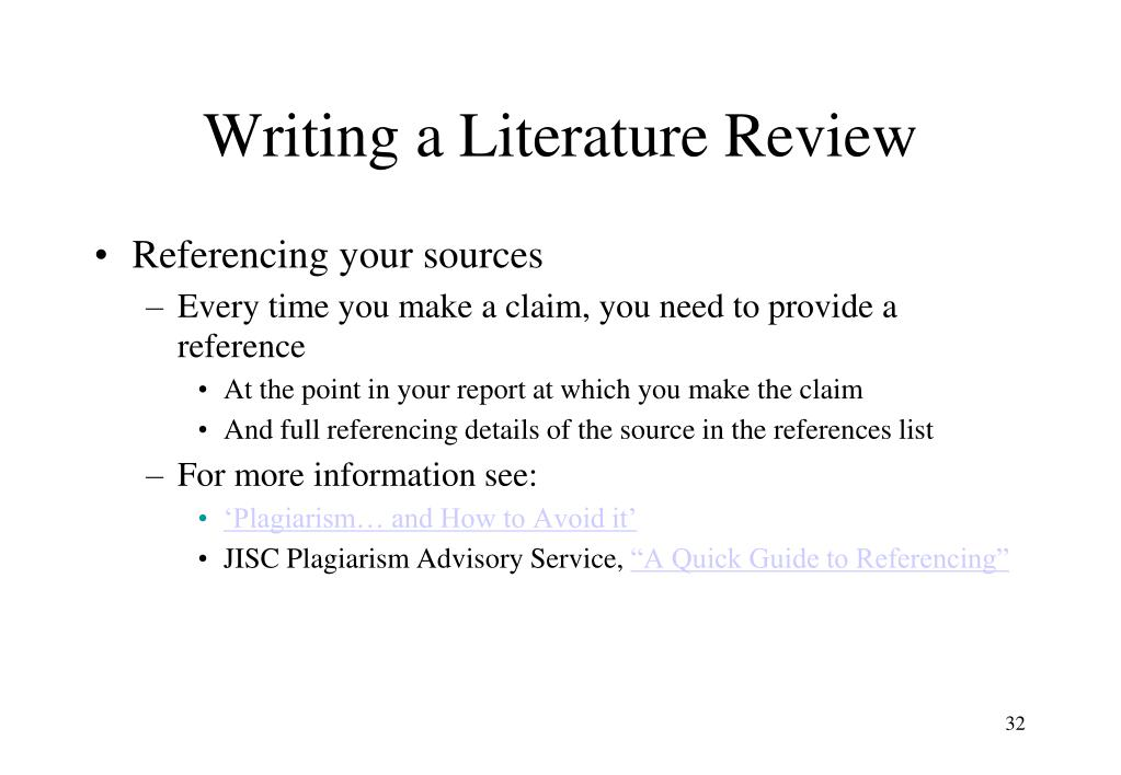 Help literature review