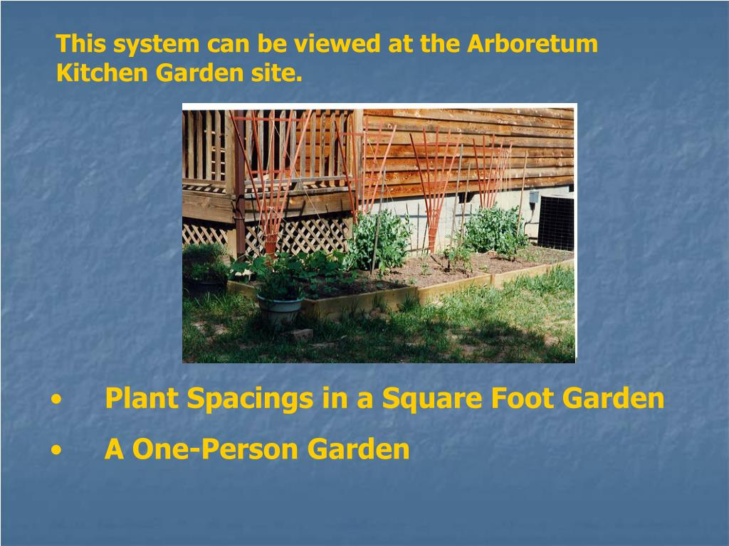 This system can be viewed at the Arboretum Kitchen Garden site.