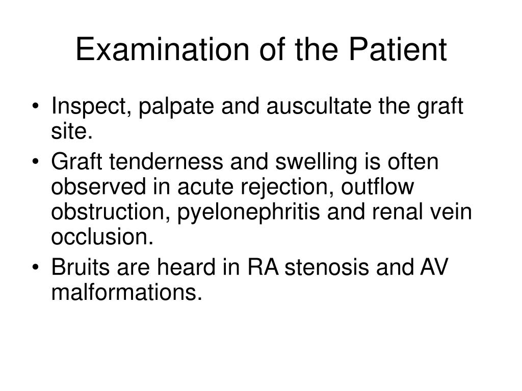 Examination of the Patient