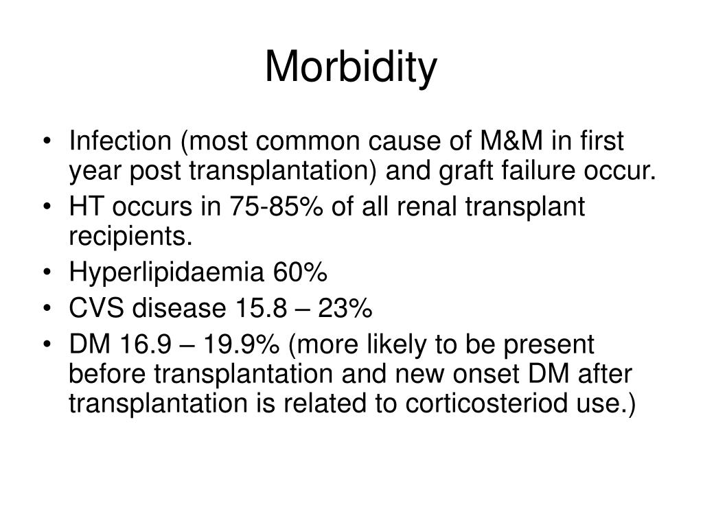 Morbidity