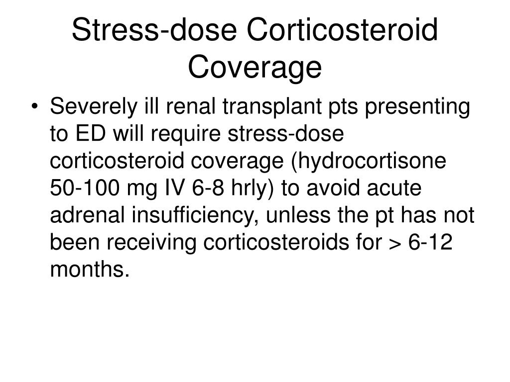 Stress-dose Corticosteroid Coverage