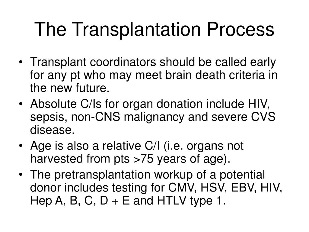 The Transplantation Process