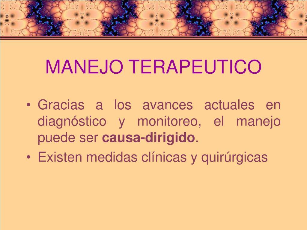 MANEJO TERAPEUTICO