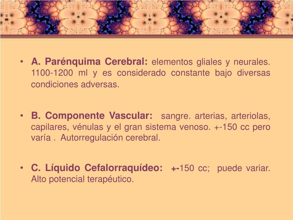 A. Parénquima Cerebral: