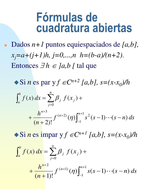 Fórmulas de cuadratura abiertas