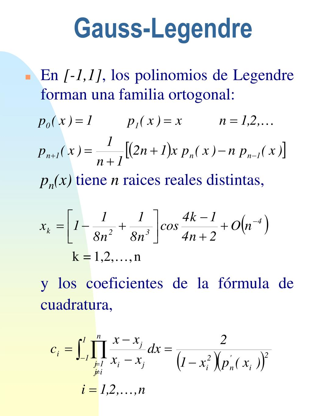 Gauss-Legendre