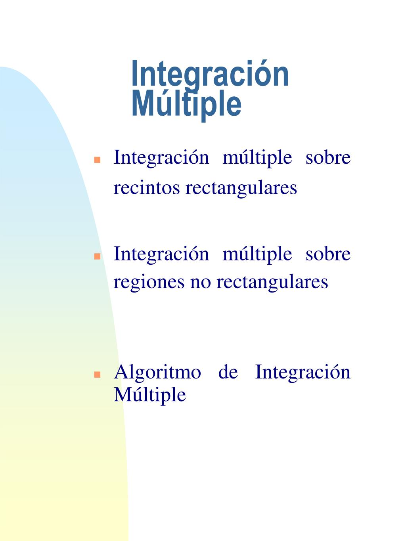 Integración Múltiple