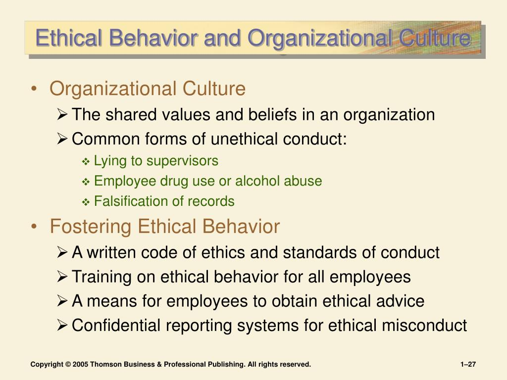 Essay on clture and ethical behavior