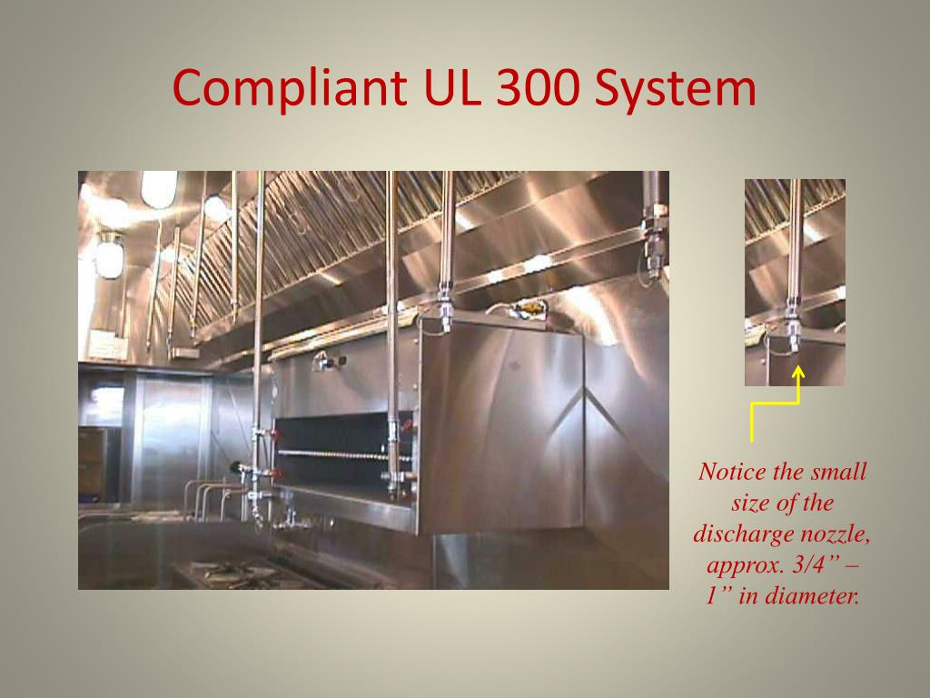 Compliant UL 300 System