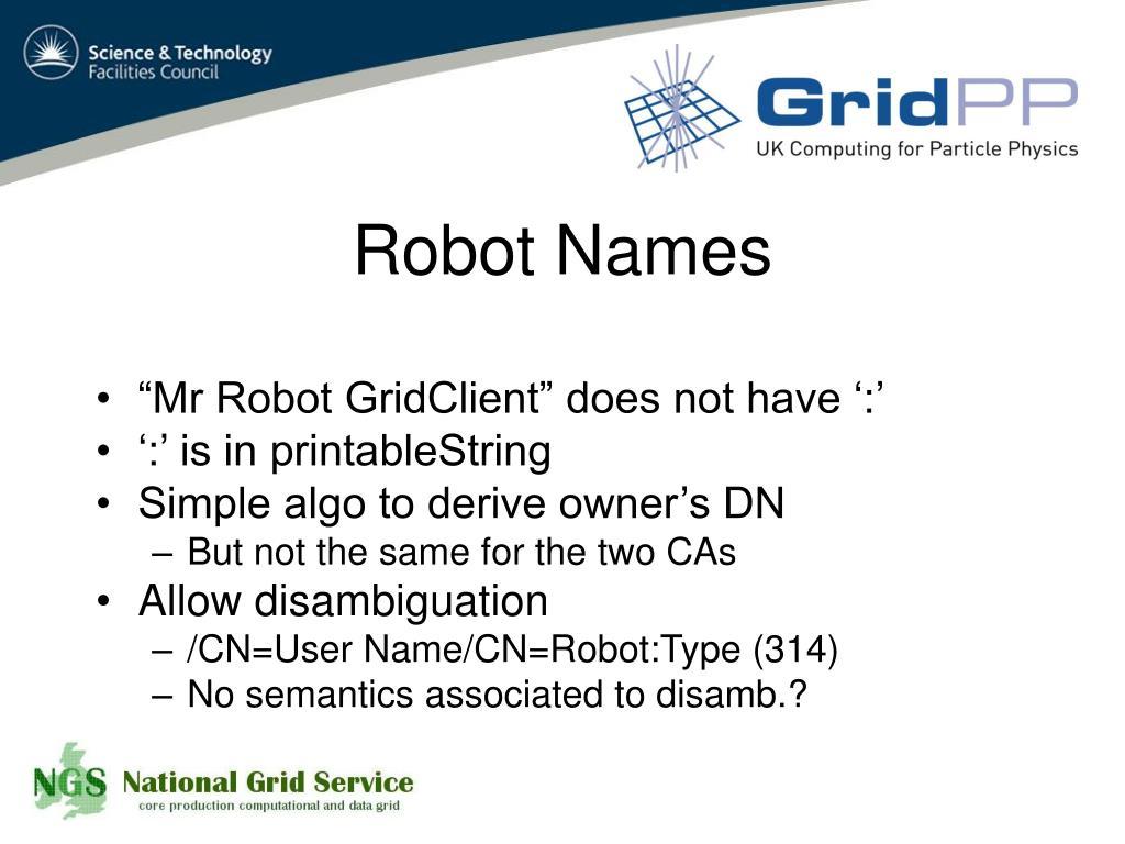 Robot Names