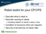 robot toolkit for your cp cps