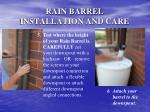 rain barrel installation and care10