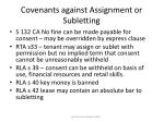 covenants against assignment or subletting79