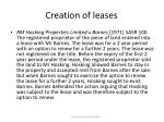 creation of leases49