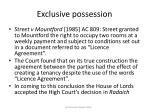 exclusive possession33