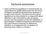 exclusive possession34