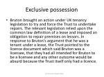 exclusive possession37