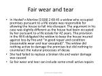 fair wear and tear61