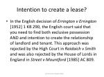 intention to create a lease