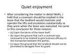 quiet enjoyment53
