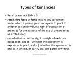 types of tenancies17