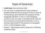 types of tenancies18