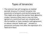 types of tenancies5