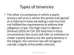 types of tenancies8